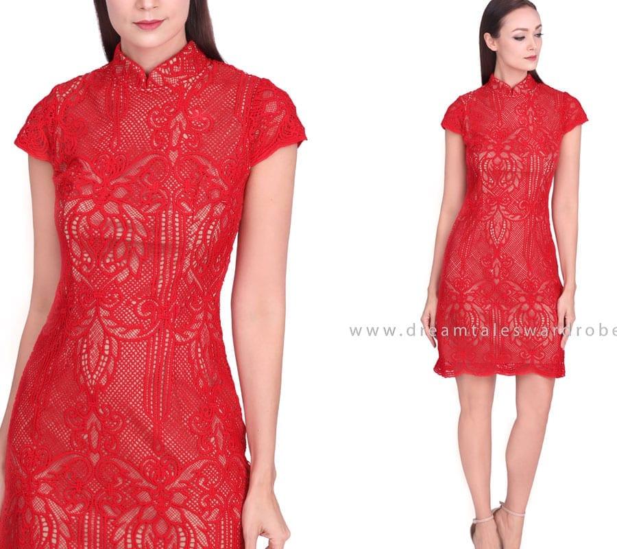 Statement Lace Cheongsam Dress