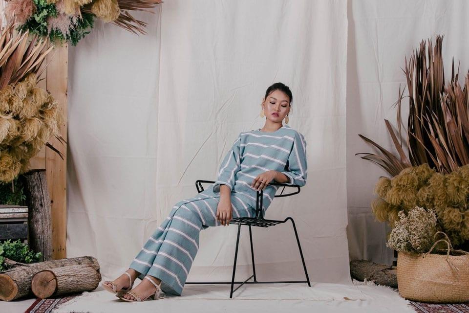 Modern Stripe Kurung Kedah Style 2019