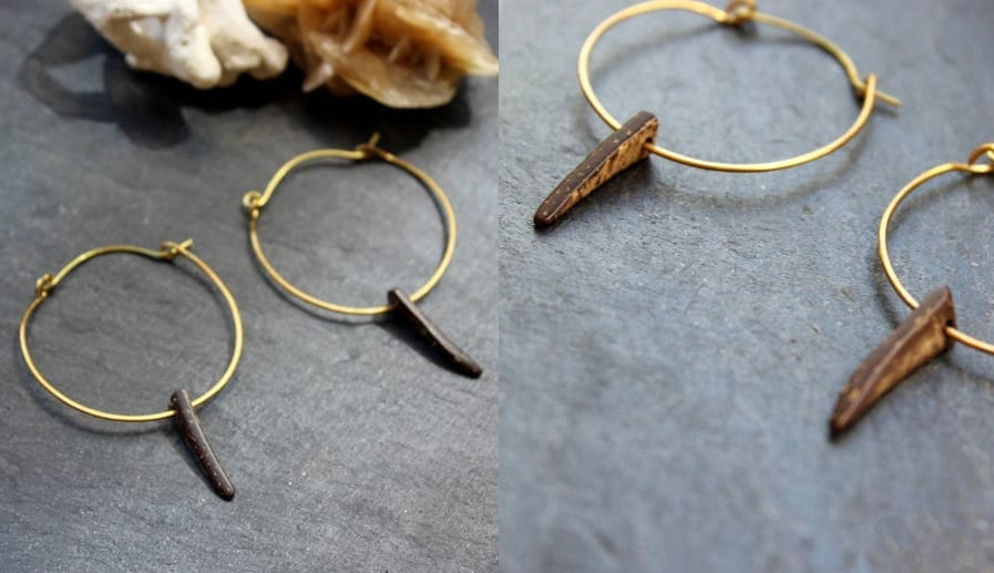 Coconut Spike Hoop Earrings
