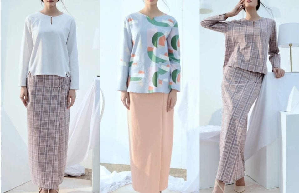 Minimalist Abstract Baju Raya 2020 Fashion Inspiration