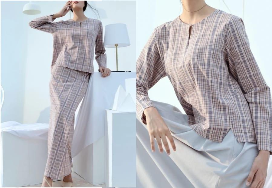 Checked Plaid Kedah Blouse / Baju Raya 2020