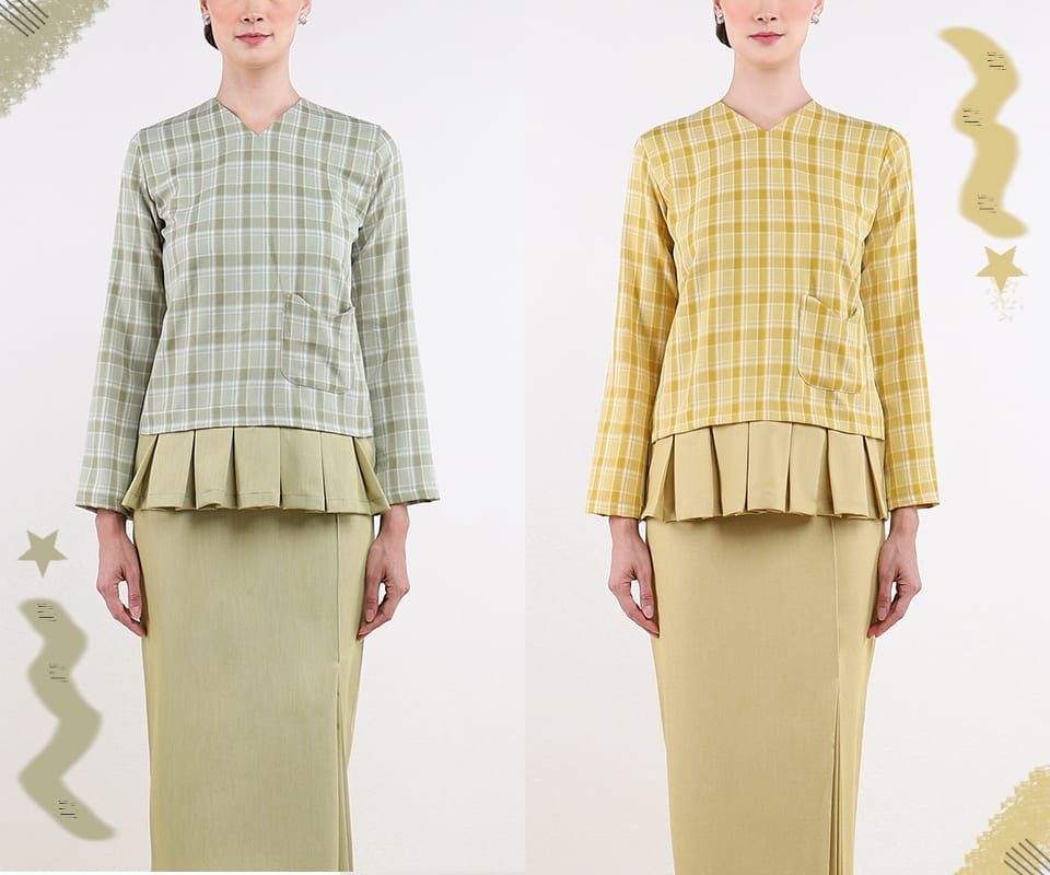 Plaid & Pleated Modern Kurung Style Inspiration