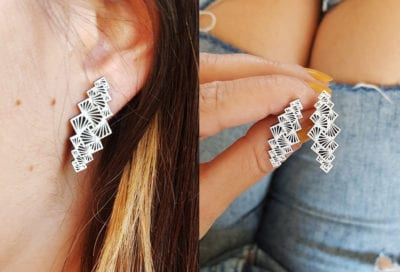 Unique Geometric Stud Earrings