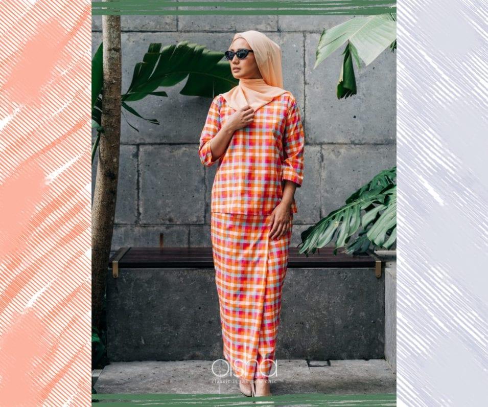 Vibrant Plaid Modern Kurung Style Inspiration