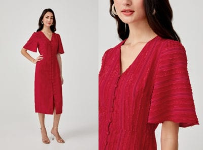 Red Midi Dresses For Valentine's Day 2020