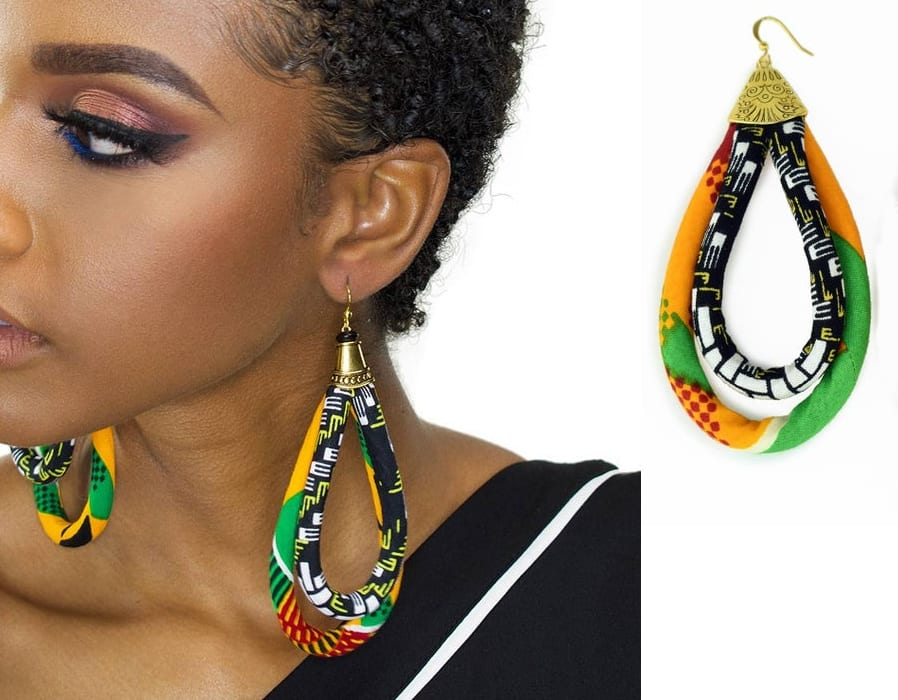 Double Loop African Earrings