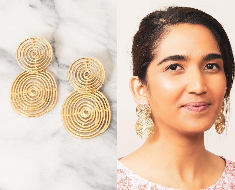 Double Spiral Statement Earrings