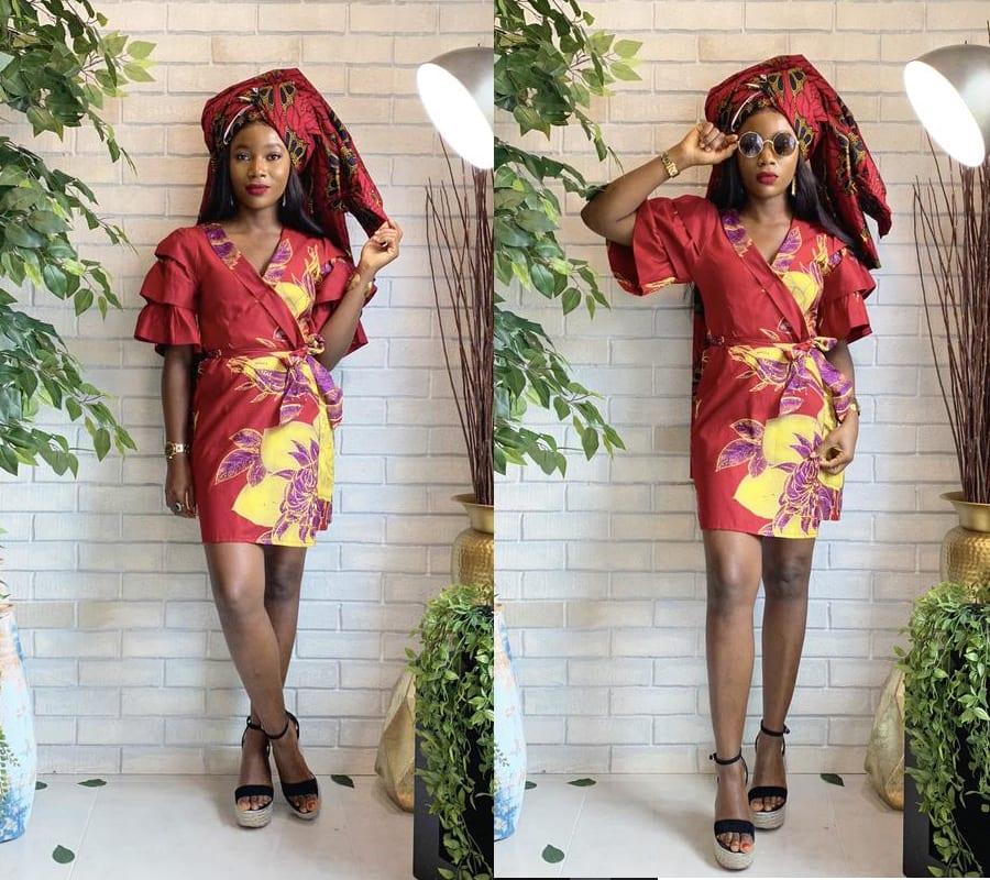 African Tuxedo Dress