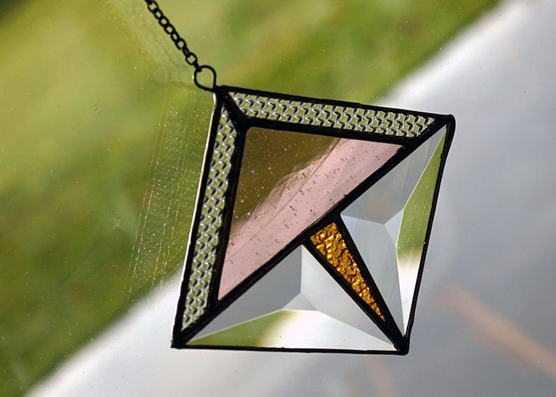Geometric Glass Suncatcher
