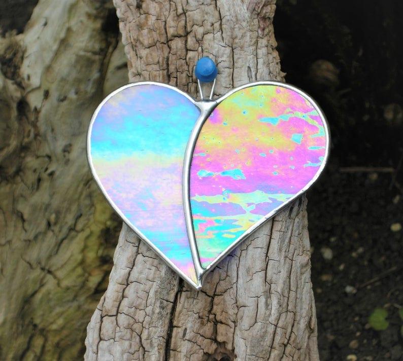 Iridescent Heart Suncatcher
