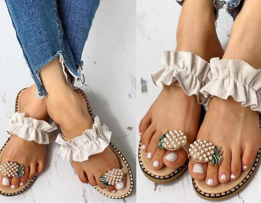 Pineapple Girl Sandals