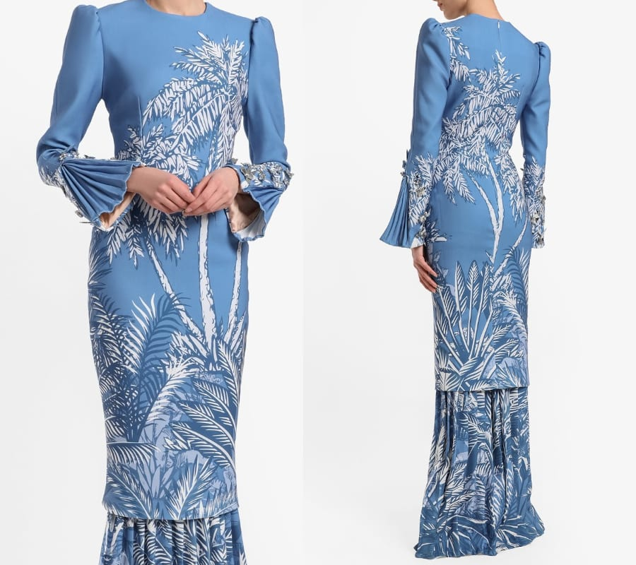 Puff Pleated Sleeve Kurung