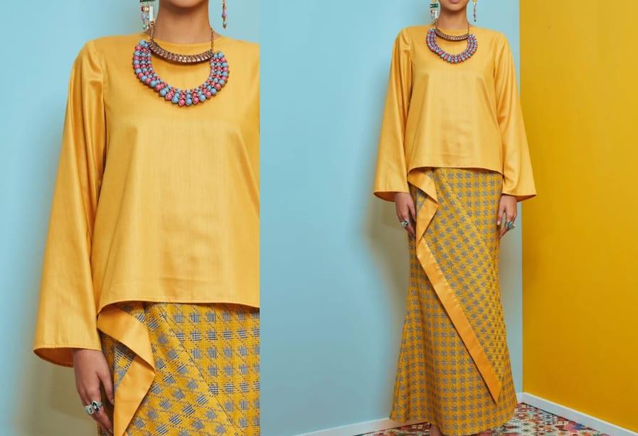 Yellow Deconstructed Kurung Kedah