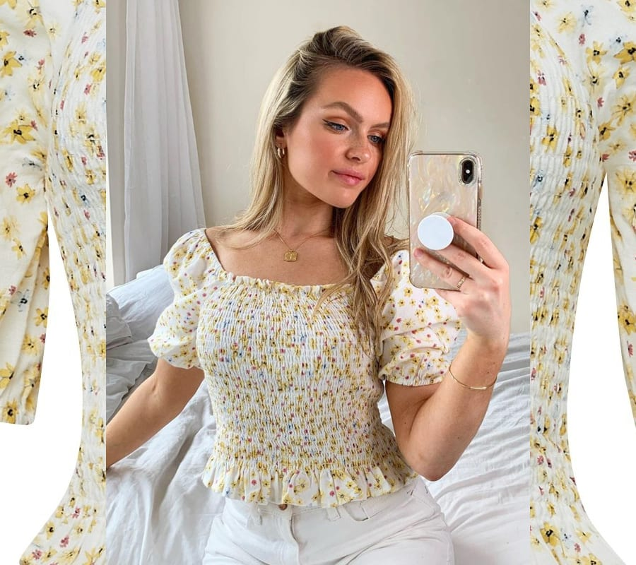 Ditsy Floral Milkmaid Top