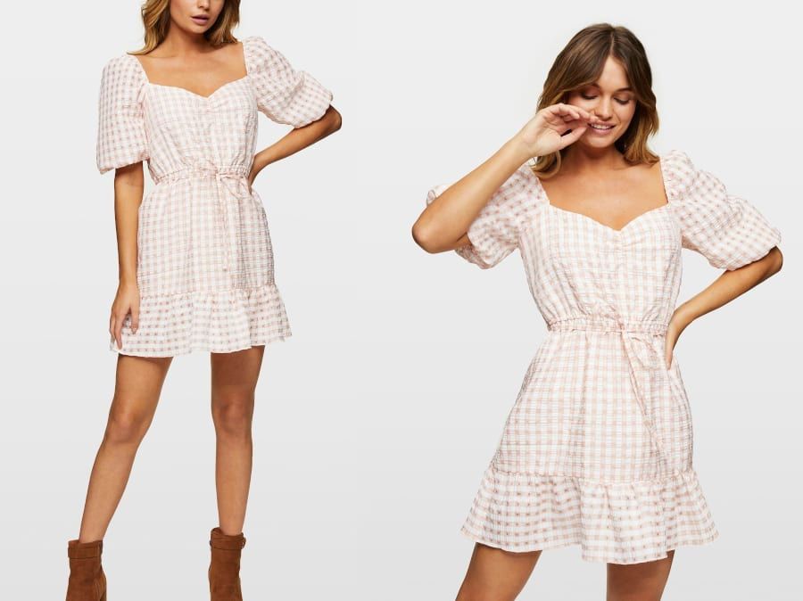 Gingham Mini Dress