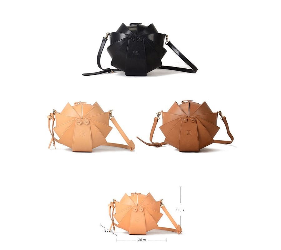 Round Leather Beetle Bags