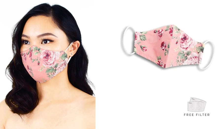 Rose Cotton Face Mask
