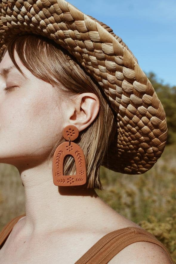 Terracotta Mexican Clay Earrings