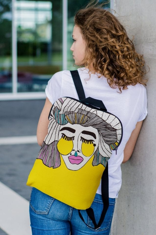 Art Expressive Canvas Backpack Style