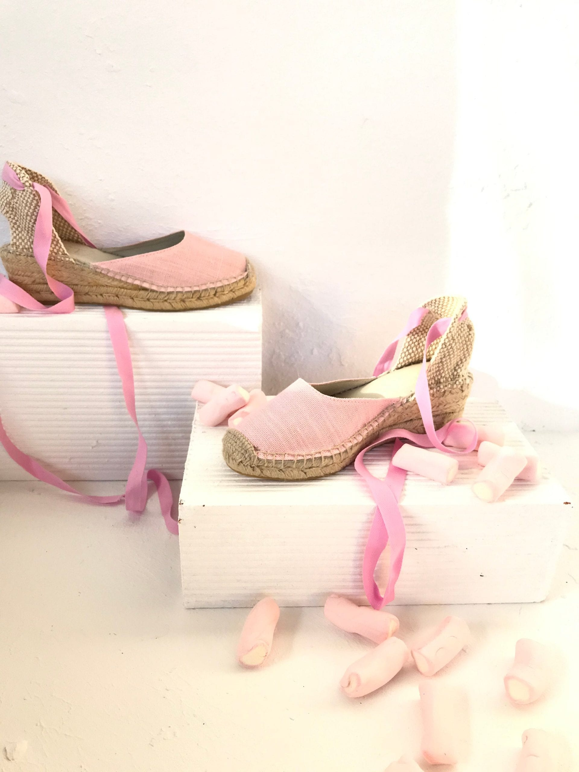 Pink Wedge Summer Shoes