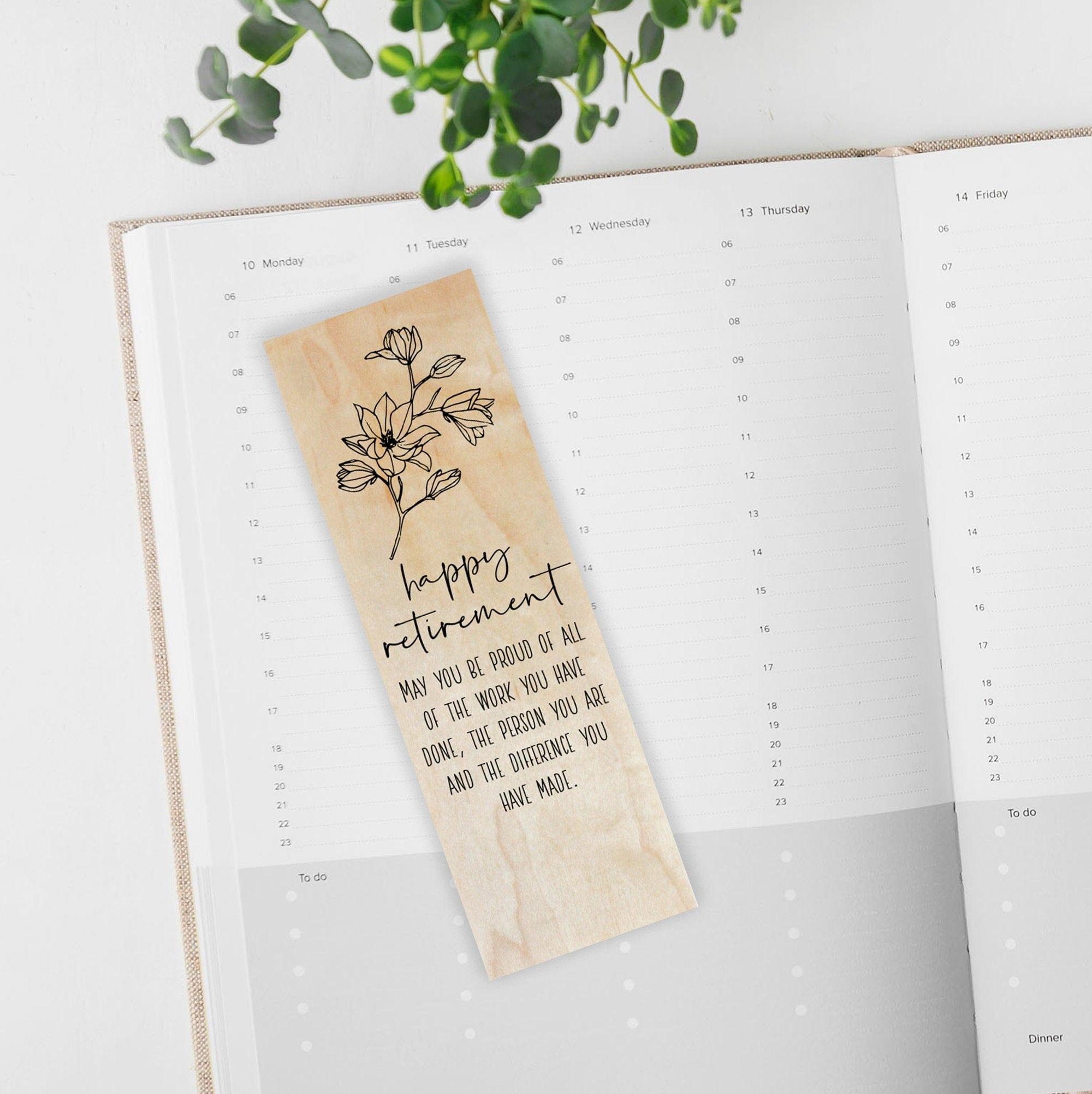 Unique Wood Bookmark