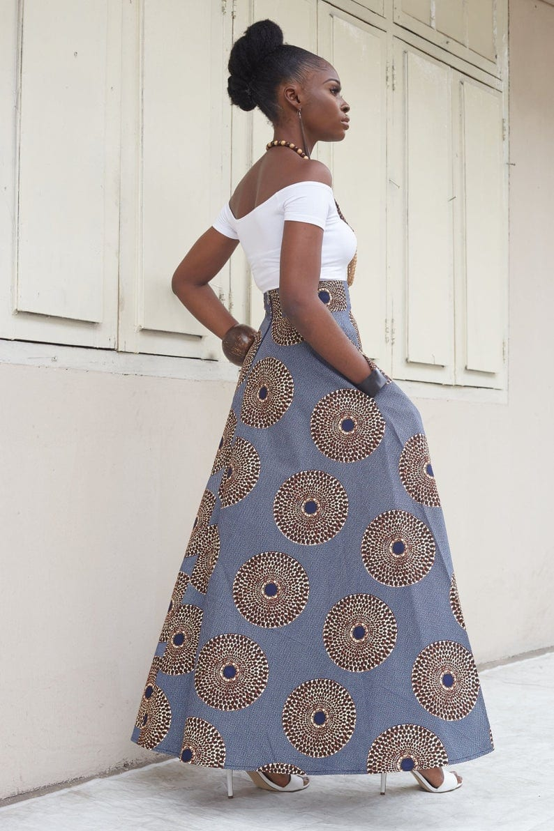 African Style Maxi Skirt