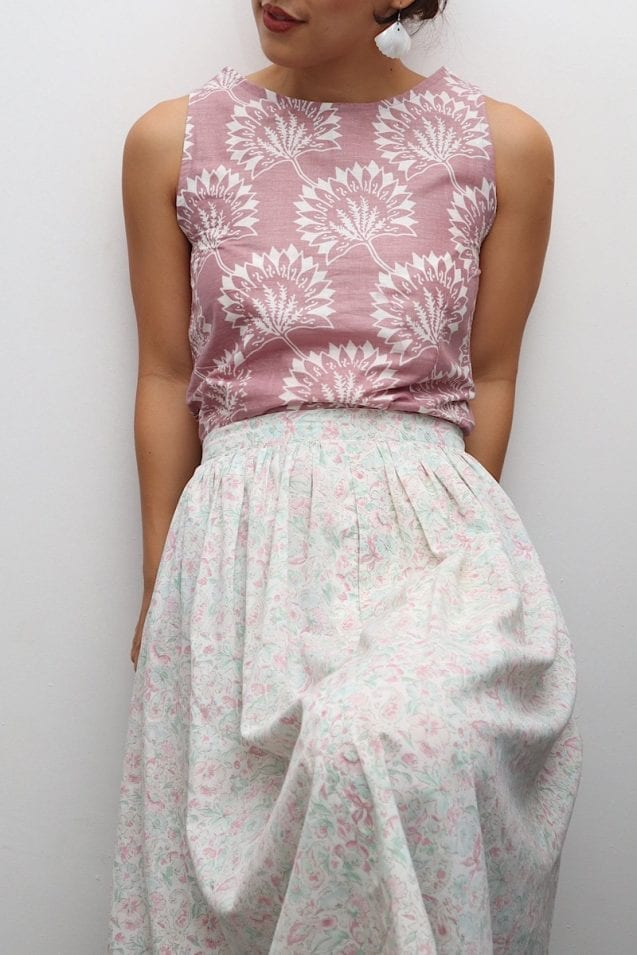Leafy Batik Top
