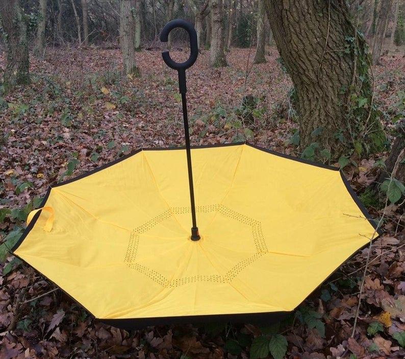 Reversible Yellow UV Protective Umbrella