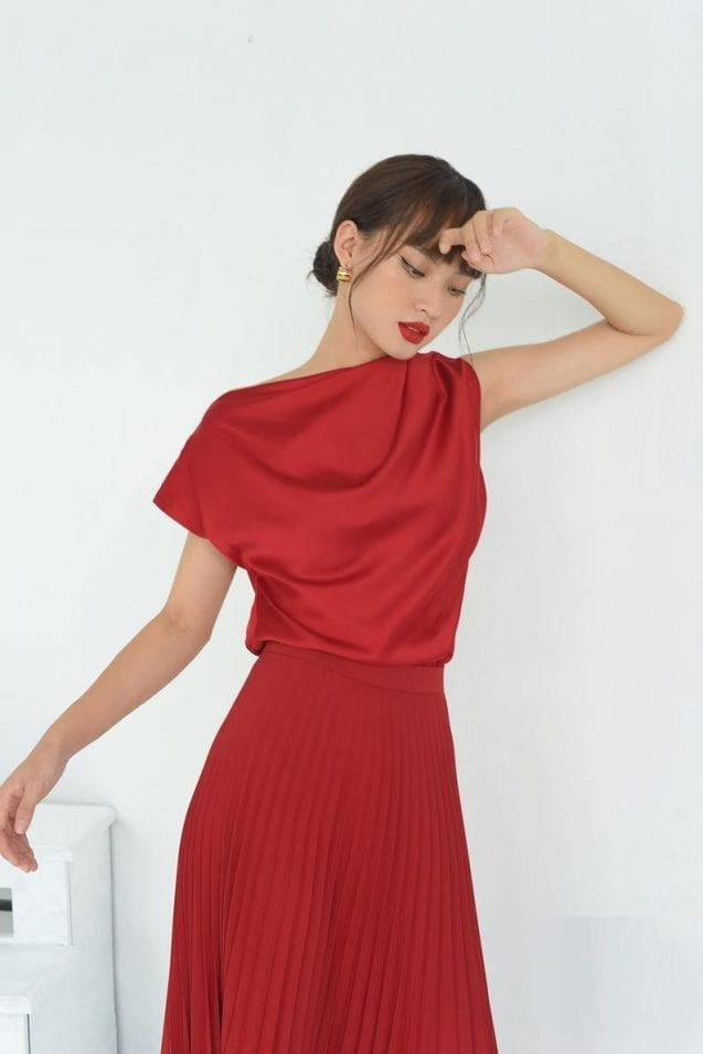 Decadent Silk Red Clothing For Women Of All Ages