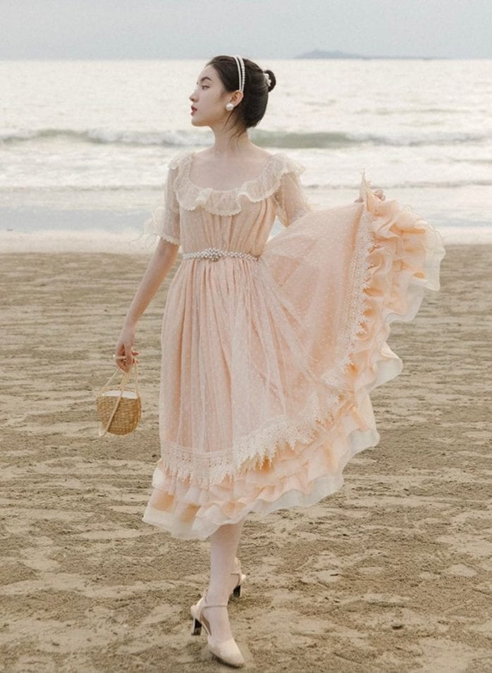 fairy vintage lace romantic dress