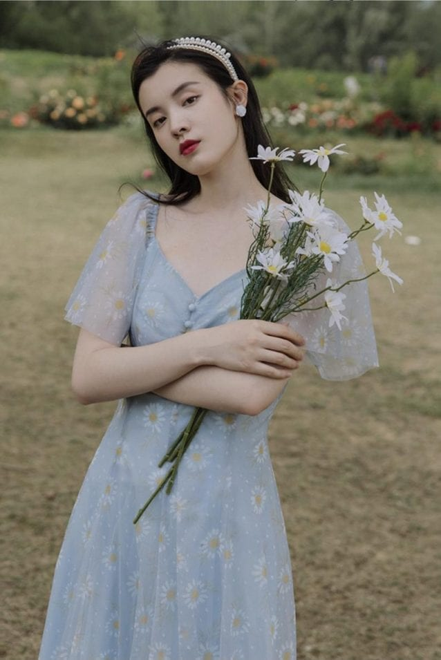 french romantic cottage core dress