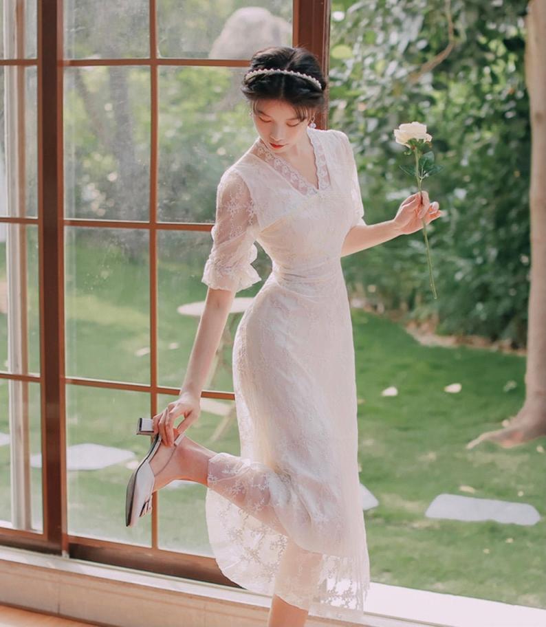 victorian style vintage lace dress