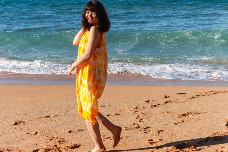 Handmade cotton batik sundress // AnakizOrganic