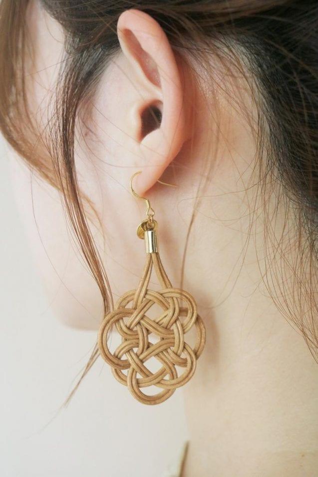 Knotted Rattan Drop Earrings // mimimomorattan