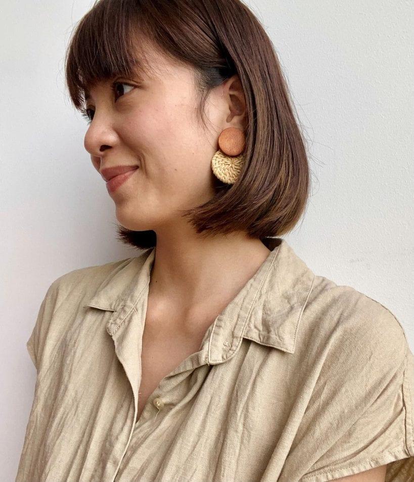 Round Rattan Bohemian Earrings // lazymawhc