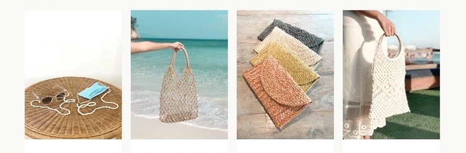 Balinese rattan & seashell accessories