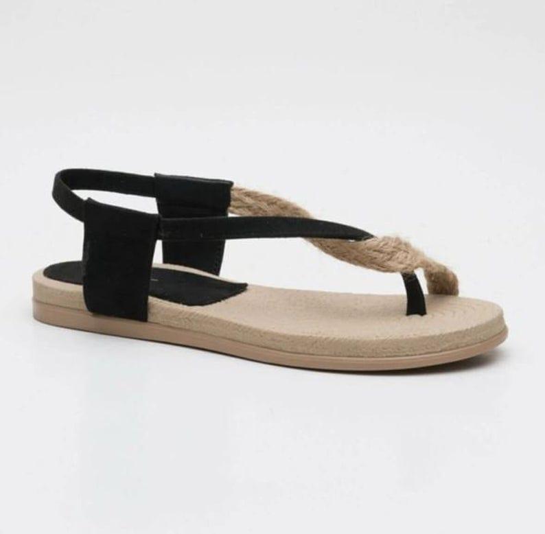 Black Strap Summer Sandals