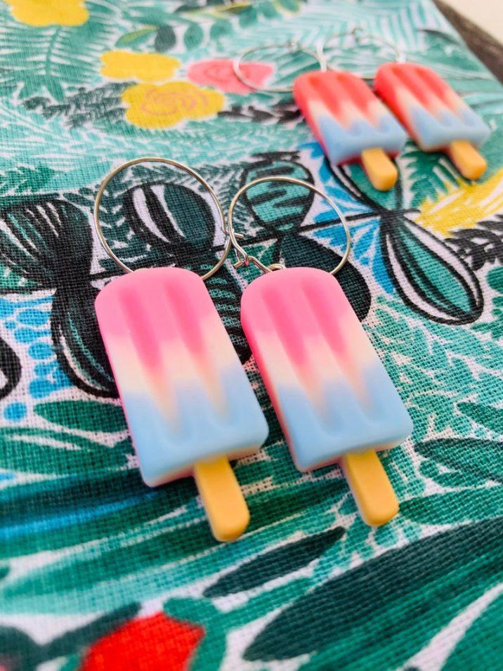 pastel popsicle earrings