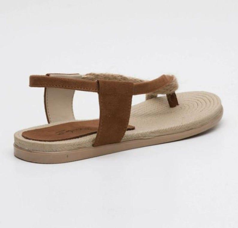 Beige Strap Summer Sandals