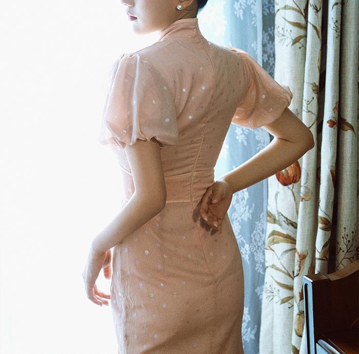 Puffy Sleeve Cheongsam Dress