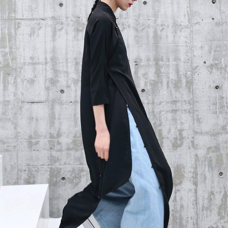 slit mod minimalist qipao dress