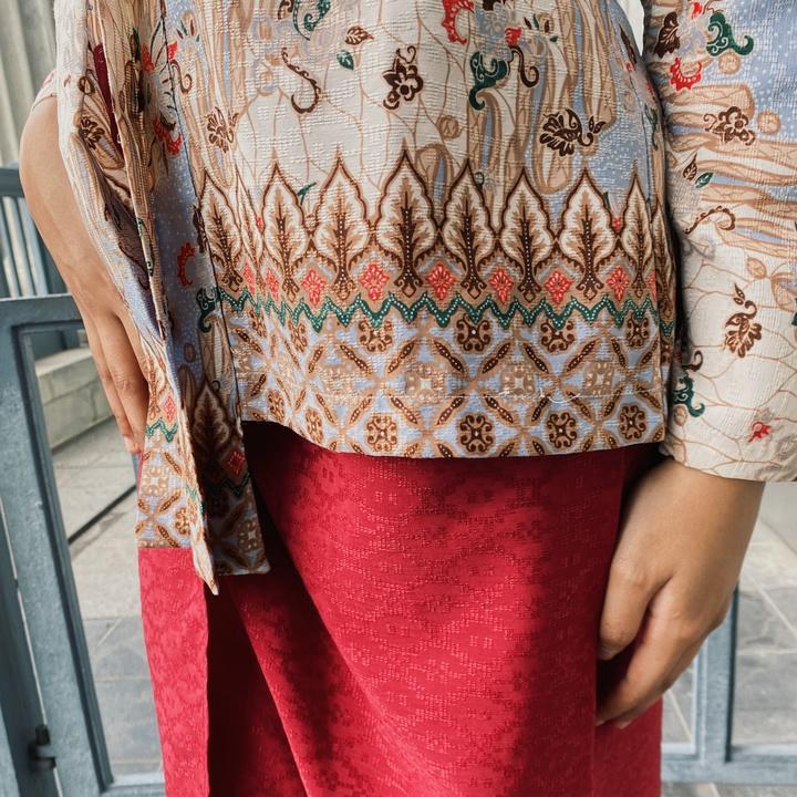 Traditional Lereng Batik Motif On A Kebaya Top