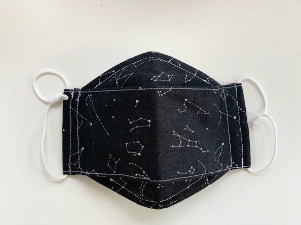 black constellation origami 3D mask