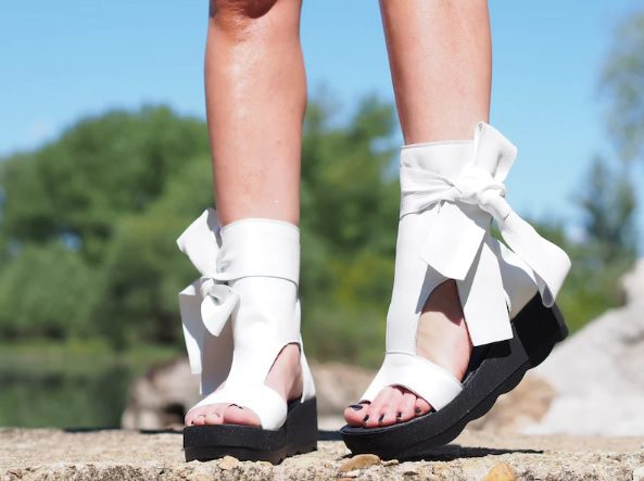 bow tie statement leather summer boots