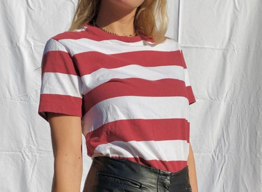 classic stripe vintage 90s tee // CharlieParkerVintage