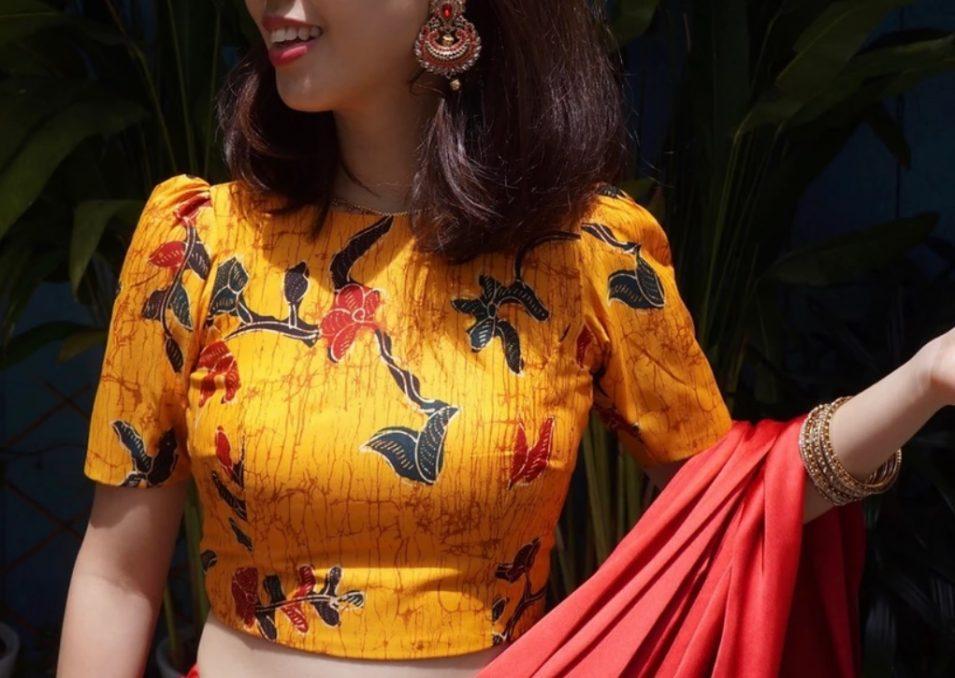 Custom Batik Saree Blouse
