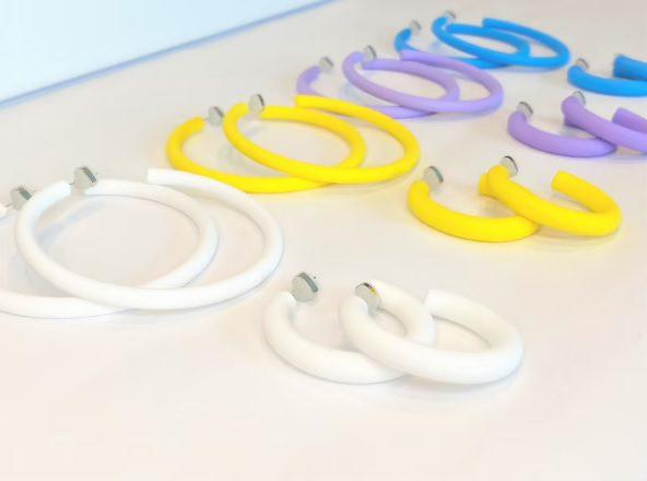 matte colored hoop statement earrings // AllThatAndSparkles