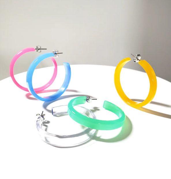 neon jelly hoop earrings // DearSoho