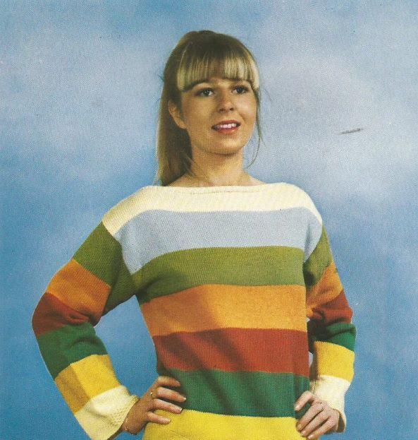 vintage striped long sleeve tee // CraftyKittenCorner