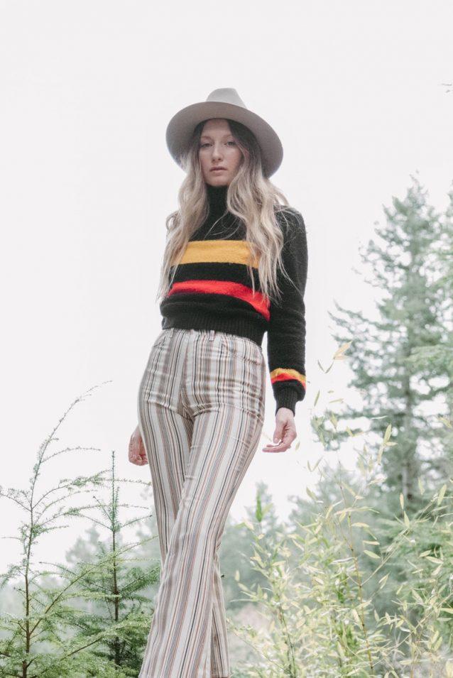 vintages striped long sleeve tee // CraftyKittenCorner